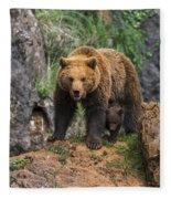 Eurasian Brown Bear 14 Fleece Blanket
