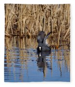 Eurasian Coot And The Bubles Fleece Blanket