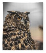 Eurasian Eagle Owl Fleece Blanket