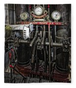 Eureka Ferry Steam Engine Controls - San Francisco Fleece Blanket