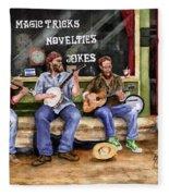 Eureka Springs Novelty Shop String Quartet Fleece Blanket