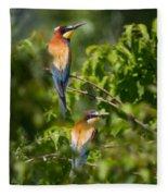 European Bee-eater Fleece Blanket