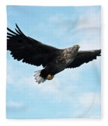 European Flying Sea Eagle 7 Fleece Blanket