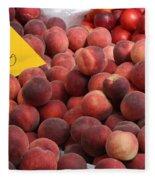 European Markets - Peaches And Nectarines Fleece Blanket