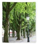 European Park Trees Fleece Blanket