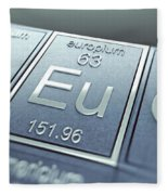 Europium Chemical Element Fleece Blanket