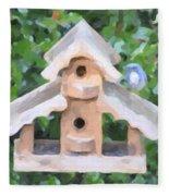 Evans's Birdhouse - Oil Paint Fleece Blanket