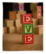 Eve - Alphabet Blocks Fleece Blanket