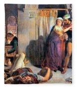 Eve Of Saint Agnes The Flight Of Madelein The Drunkenness Attending The Revelry Fleece Blanket