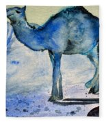 Even Camels Get The Blues Fleece Blanket