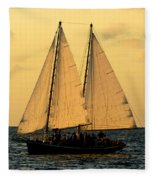 More Sails In Key West Fleece Blanket