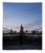 Even The Clouds Aligned With St Paul's Cathedral And The Millennium Bridge - London Fleece Blanket