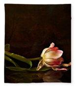 Even Though A Flower Fades Fleece Blanket