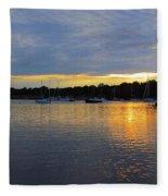 Evening Approaches Fleece Blanket