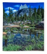 Evening At Cathedral Lakes Fleece Blanket