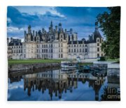 Evening At Chateau Chambord Fleece Blanket