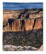 Evening At Colorado National Monument Fleece Blanket