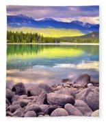 Evening At Lake Annette Fleece Blanket