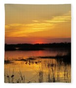 Evening At The Lake Fleece Blanket
