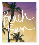 Evening Beach Bum Fleece Blanket