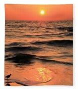 Evening Beach Stroll Fleece Blanket