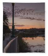 Evening By The River Fleece Blanket