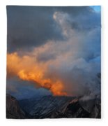 Evening Clouds And Half Dome At Yosemite Fleece Blanket