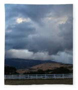 Evening Clouds Over Ashland Farm Country Fleece Blanket