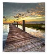 Evening Dock Fleece Blanket