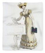Evening Dress, Fashion Plate Fleece Blanket