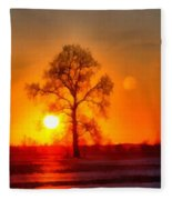 Evening Ember Sunset Fleece Blanket