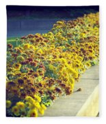 Evening Flowers Fleece Blanket