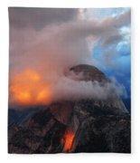 Evening Glow On Half Dome In Yosemite Fleece Blanket