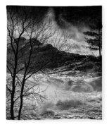 Evening Great Falls Maine Fleece Blanket