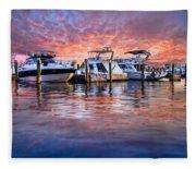 Evening Harbor Fleece Blanket
