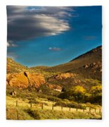 Evening Hogbacks Fleece Blanket