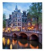 Evening In Amsterdam Fleece Blanket