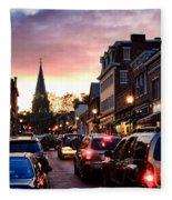 Evening In Annapolis Fleece Blanket