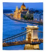 Evening In Budapest Fleece Blanket
