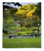 Evening In Central Park Fleece Blanket