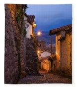 Evening In Cusco  Fleece Blanket