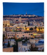 Evening In Jerusalem Fleece Blanket