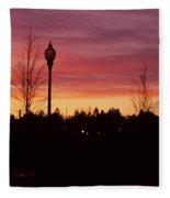 Evening In Riverfront Park Fleece Blanket