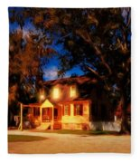 Evening In Small Town U. S. A. Fleece Blanket
