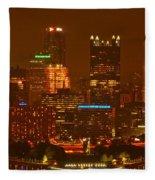 Evening In The City Of Champions Fleece Blanket
