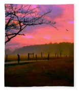 Evening In The Smokies Fleece Blanket