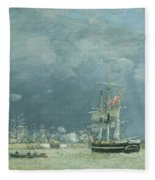 Evening Le Havre Fleece Blanket