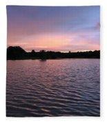 Evening Light Amazon River Fleece Blanket