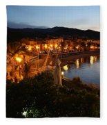 Evening Light In Collioure Fleece Blanket