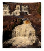Evening Light Waterfalls Fleece Blanket